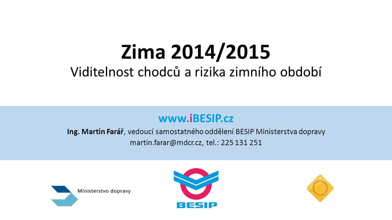 Zima 2014/2015 Viditelnost chodců a rizika zimního období www.iBESIP.cz Ing.