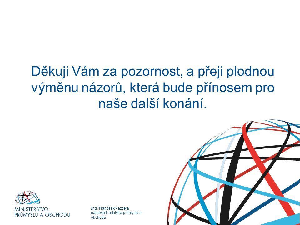 Ing. František Pazdera náměstek ministra průmyslu a obchodu PROCES AKTUALIZACE STÁTNÍ ENERGETICKÉ KONCEPCE Děkuji Vám za pozornost, a přeji plodnou vý