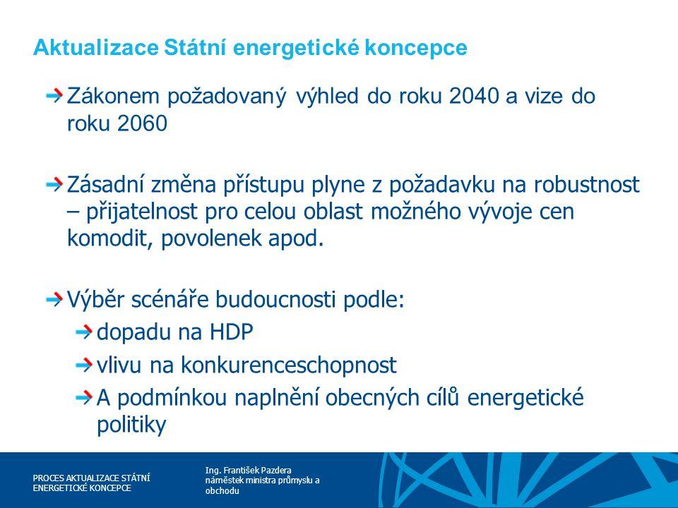 Ing. František Pazdera náměstek ministra průmyslu a obchodu PROCES AKTUALIZACE STÁTNÍ ENERGETICKÉ KONCEPCE Aktualizace Státní energetické koncepce Zák