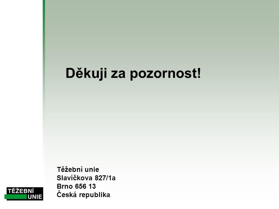 Děkuji za pozornost! Těžební unie Slavíčkova 827/1a Brno 656 13 Česká republika