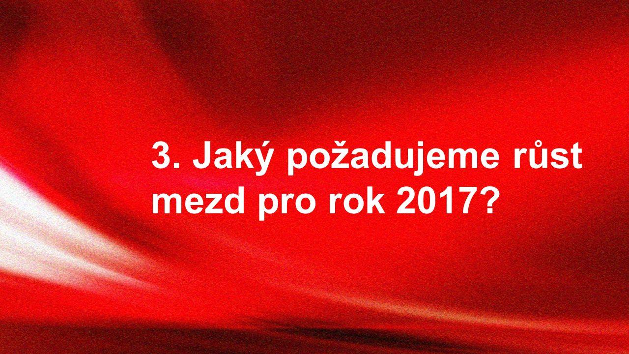 3. Jaký požadujeme růst mezd pro rok 2017?
