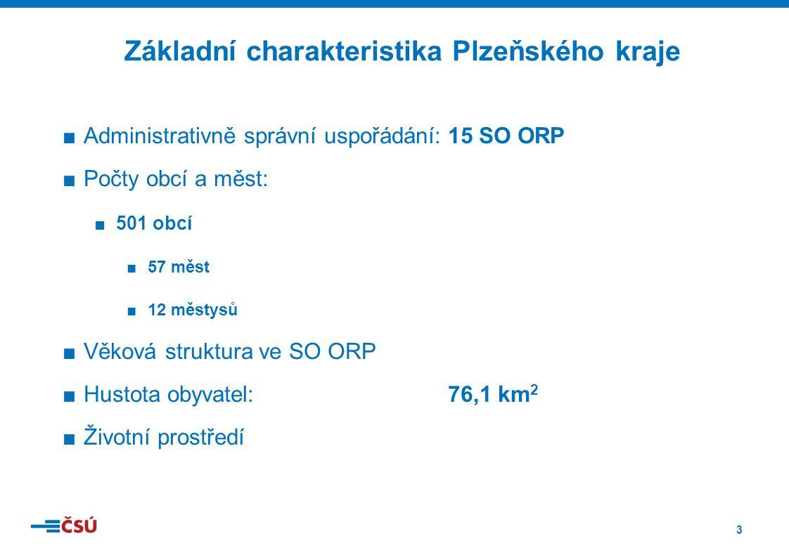 4 Charakteristika SO ORP Plzeňského kraje