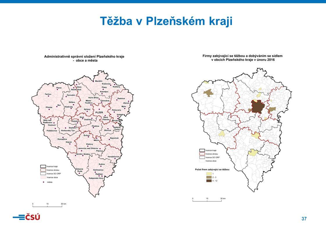 37 Těžba v Plzeňském kraji