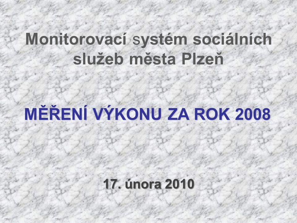 Monitorovací systém sociálních služeb města Plzeň 17. února 2010 MĚŘENÍ VÝKONU ZA ROK 2008