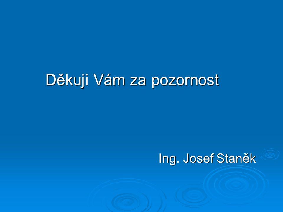 Děkuji Vám za pozornost Ing. Josef Staněk
