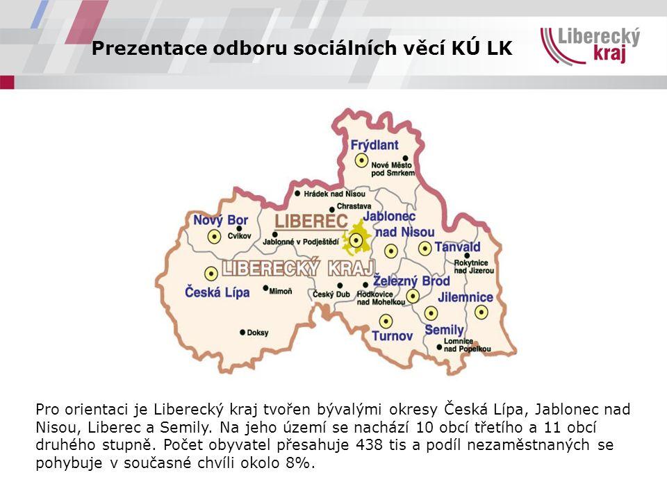 Prezentace odboru sociálních věcí KÚ LK  Celkově má KÚ LK 381 pracovních míst včetně pracovníků v projektech.