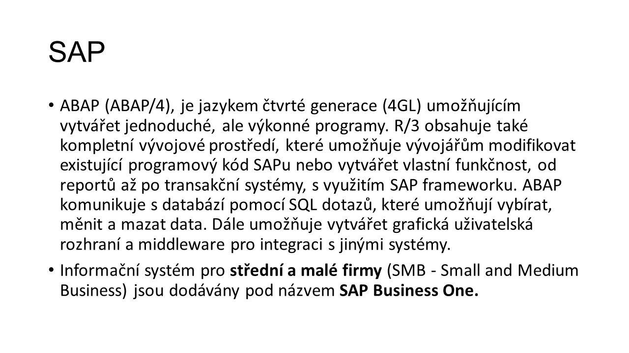 SAP ABAP (ABAP/4), je jazykem čtvrté generace (4GL) umožňujícím vytvářet jednoduché, ale výkonné programy.