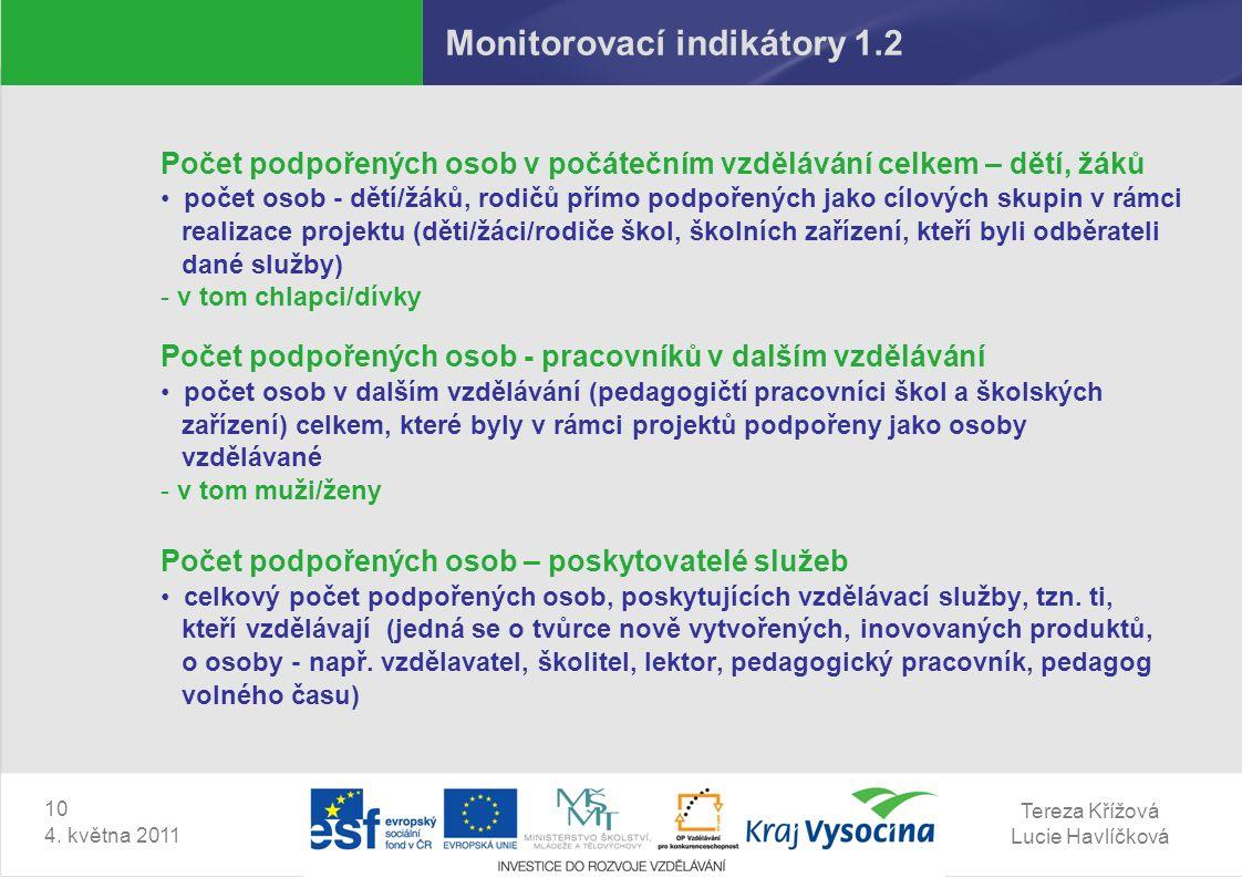 Tereza Křížová Lucie Havlíčková 10 4.