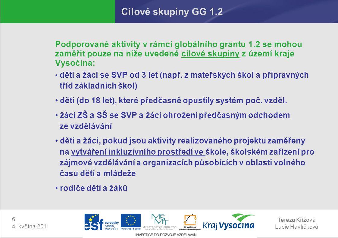 Tereza Křížová Lucie Havlíčková 6 4.