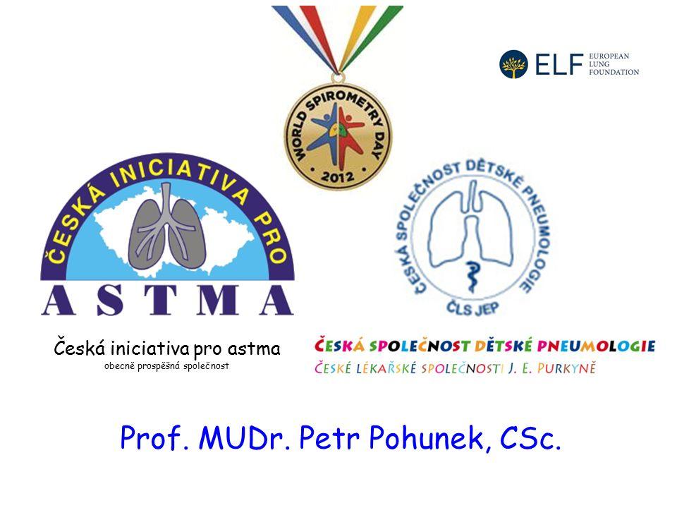 Česká iniciativa pro astma obecně prospěšná společnost Prof. MUDr. Petr Pohunek, CSc.