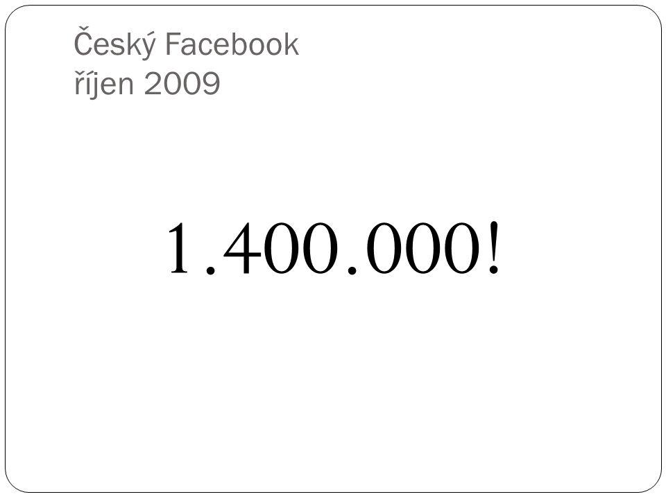 Český Facebook říjen 2009 1.400.000!