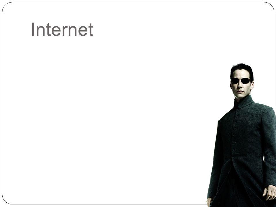 8 Internet je ve středním věku  internet: síť sítí.