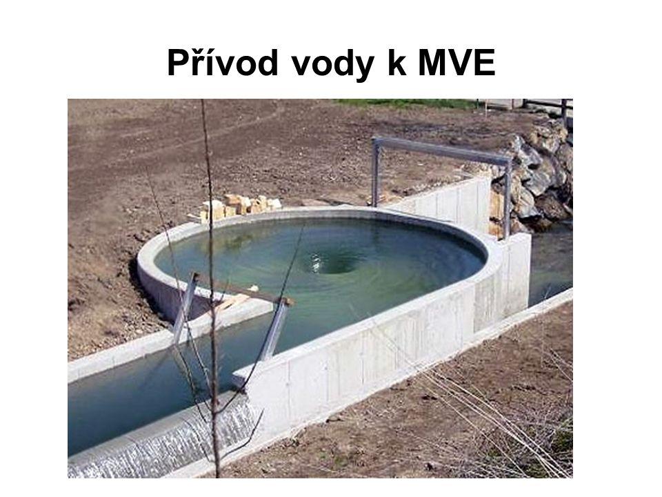 Přívod vody k MVE