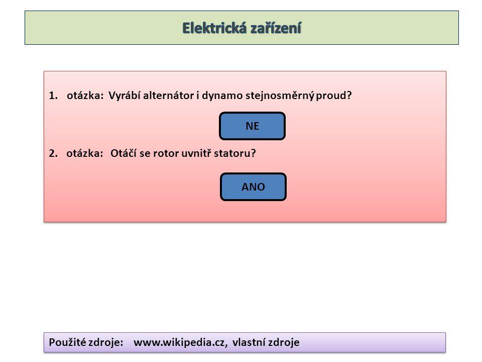 1.otázka: Vyrábí alternátor i dynamo stejnosměrný proud.