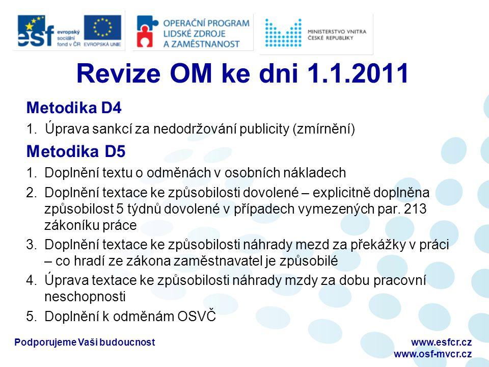 Revize OM ke dni 1.1.2011 Metodika D4 1.
