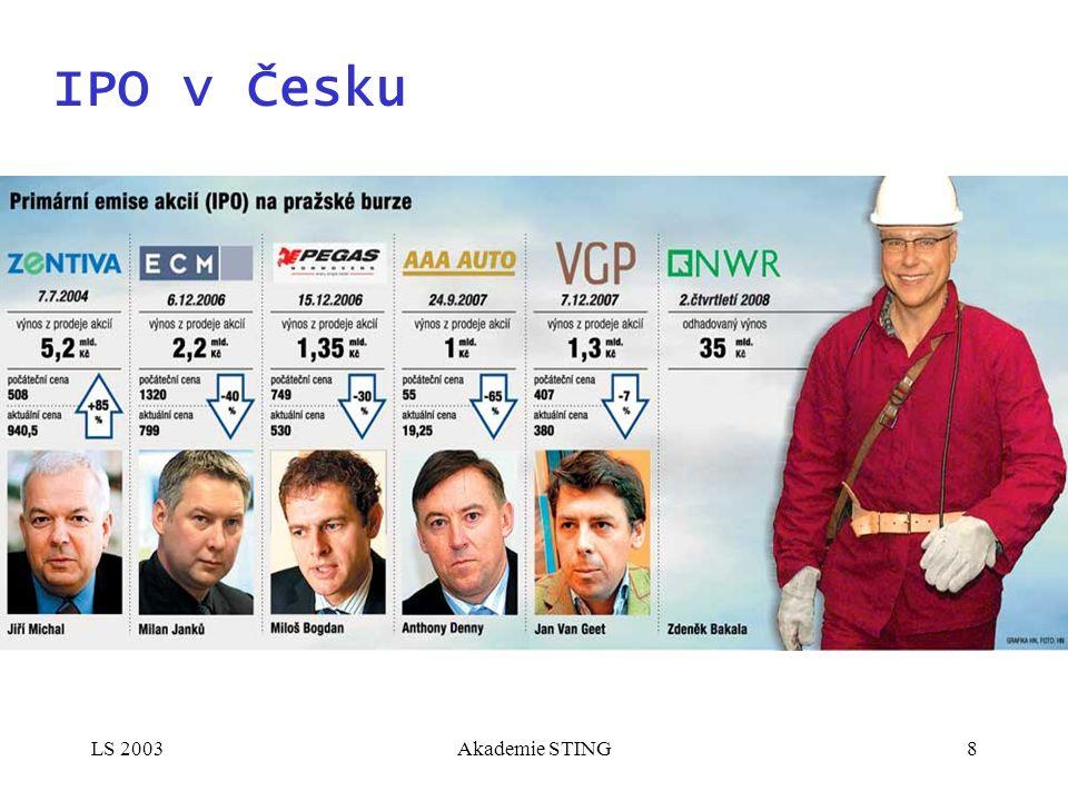 LS 2003Akademie STING8 IPO v Česku