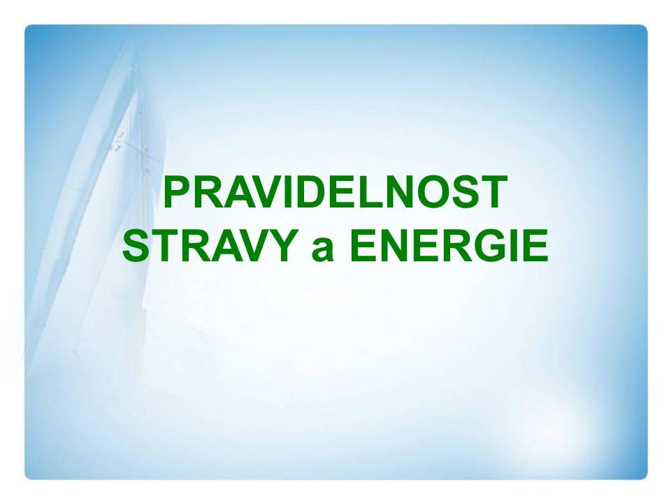 PRAVIDELNOST STRAVY a ENERGIE
