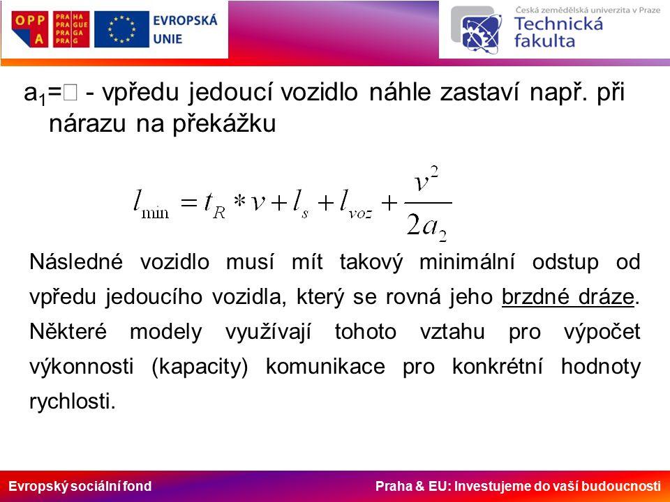 Evropský sociální fond Praha & EU: Investujeme do vaší budoucnosti a 1 =  - vpředu jedoucí vozidlo náhle zastaví např.