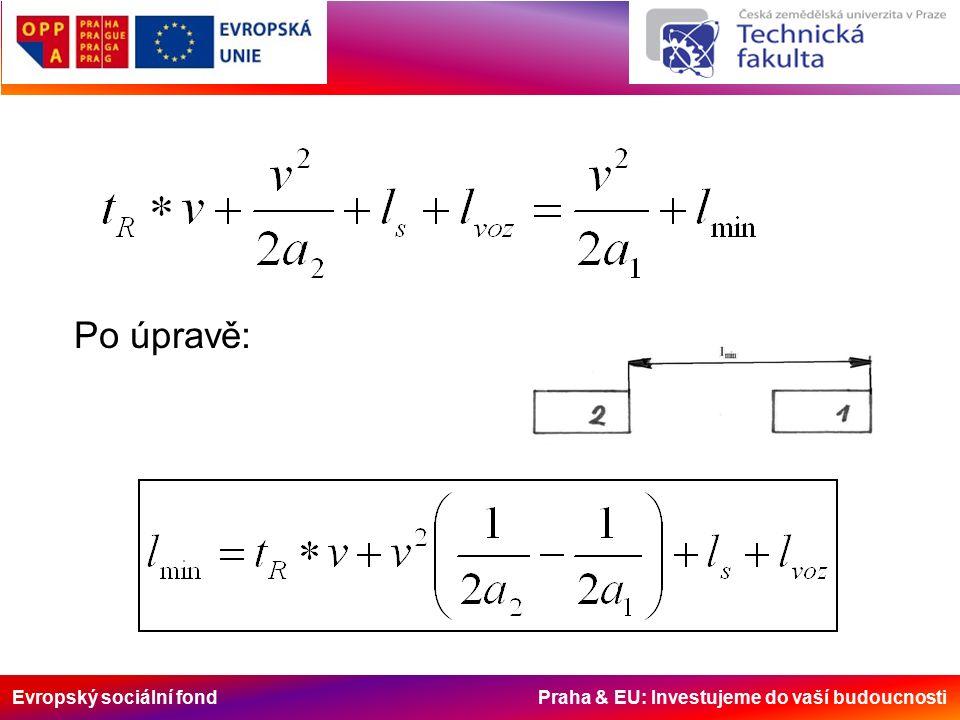Evropský sociální fond Praha & EU: Investujeme do vaší budoucnosti Po úpravě: