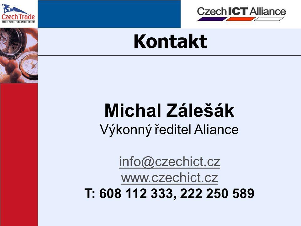 Kontakt Michal Zálešák Výkonný ředitel Aliance info@czechict.cz www.czechict.cz T: 608 112 333, 222 250 589