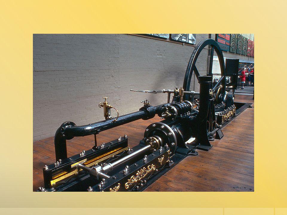 PARNÍ LOKOMOTIVA  První parní lokomotiva (Anglie)  Ve starší češtině nazývána parovůz.