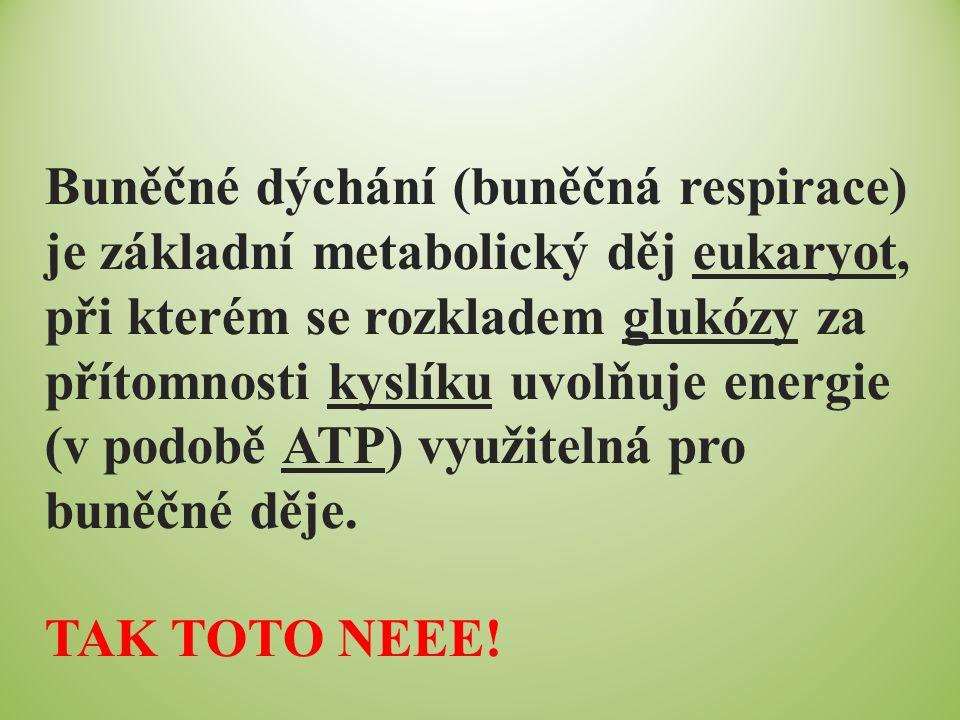 Buněčné dýchání (buněčná respirace) je základní metabolický děj eukaryot, při kterém se rozkladem glukózy za přítomnosti kyslíku uvolňuje energie (v p
