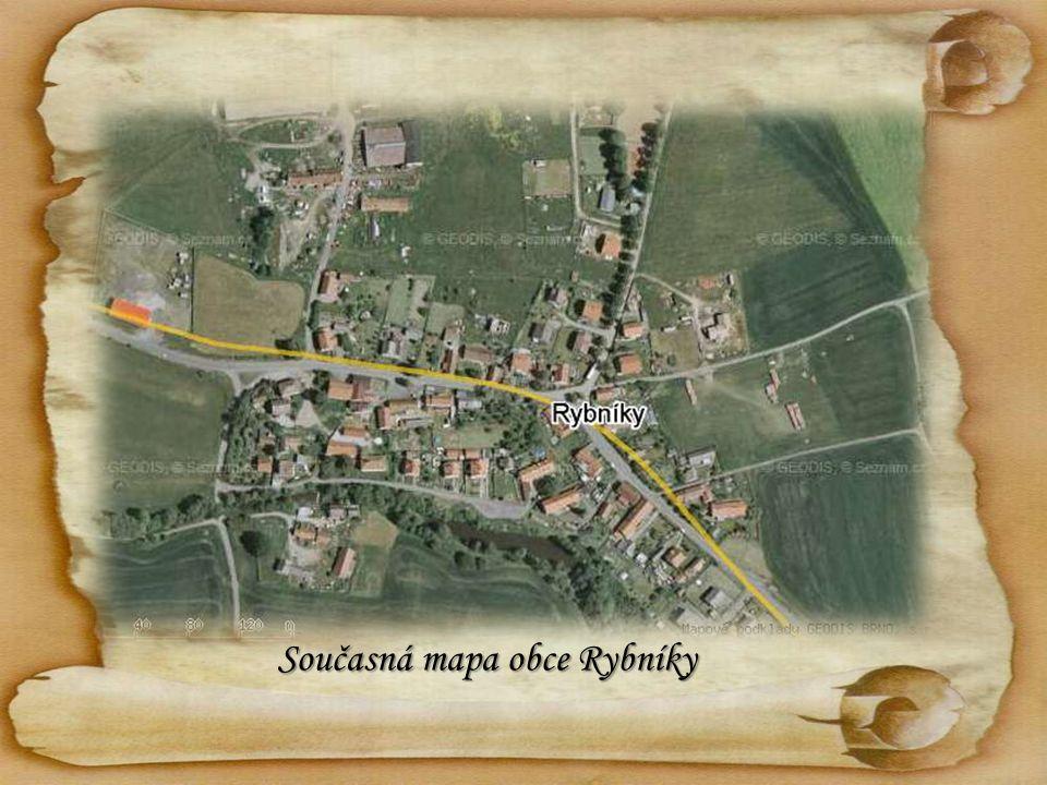 Současná mapa obce Rybníky