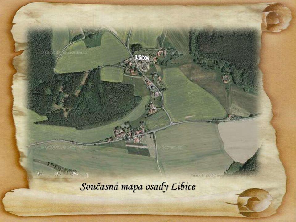 Současná mapa osady Libice