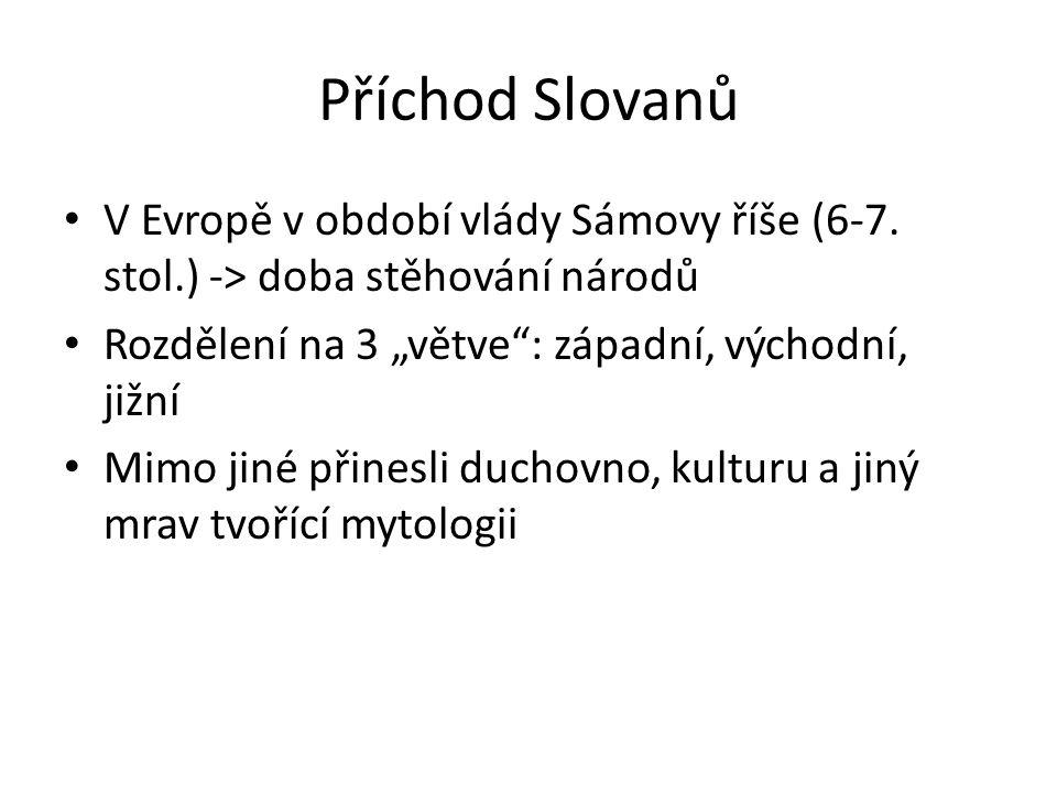Příchod Slovanů V Evropě v období vlády Sámovy říše (6-7.