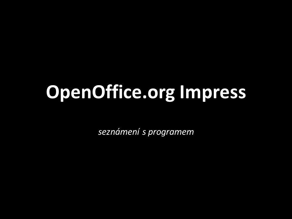 OpenOffice.org Impress seznámení s programem