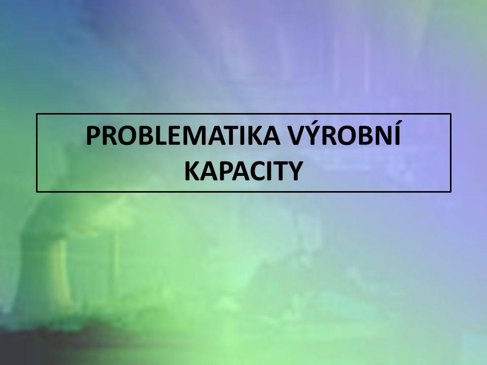 PROBLEMATIKA VÝROBNÍ KAPACITY