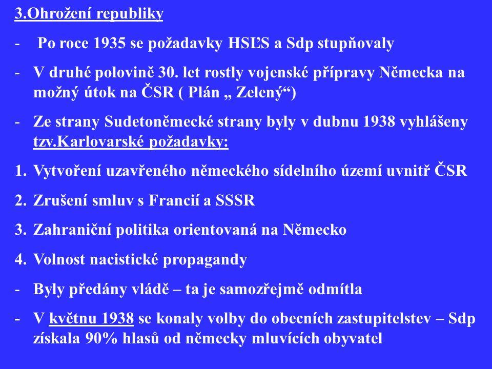 -Na Slovensku se situace přiostřila v dubnu 1938 kdy HSĽS vedla kampaň za vyhlášení autonomie Slovenska 4.