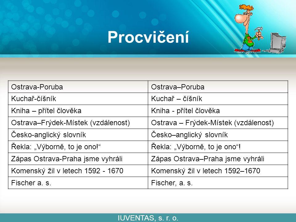 Procvičení IUVENTAS, s. r. o.