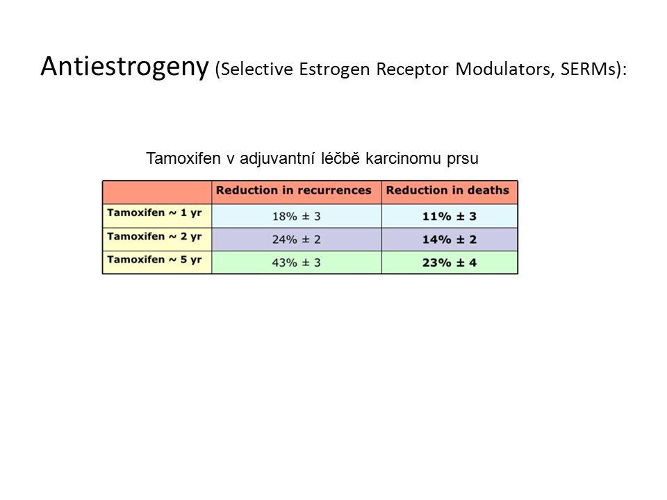 Antiestrogeny (Selective Estrogen Receptor Modulators, SERMs): Tamoxifen v adjuvantní léčbě karcinomu prsu