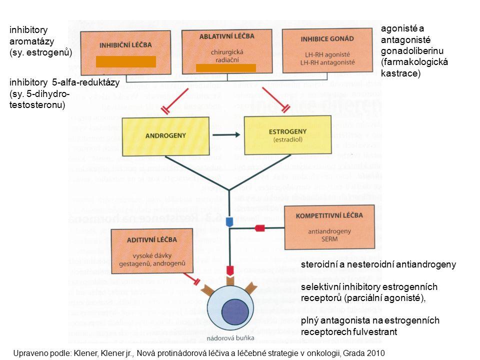 agonisté a antagonisté gonadoliberinu (farmakologická kastrace) inhibitory aromatázy (sy.