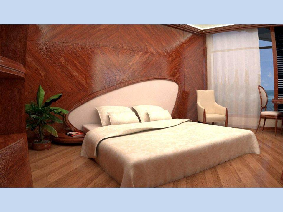 Ubytovací pokoje (ložnice) jsou elegantně zařízené reprezentační místnosti přístupné přes obývací pokoj.