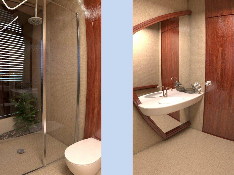 Pokoje mají velká netříštivá okna, poskytující panoramatický výhled do okolí. Všechny pokoje jsou vybaveny koupelnou se sprchovým koutem a vakuovým WC