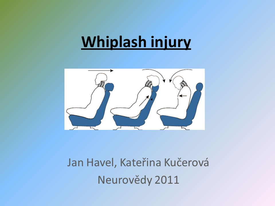 Whiplash injury Jan Havel, Kateřina Kučerová Neurovědy 2011