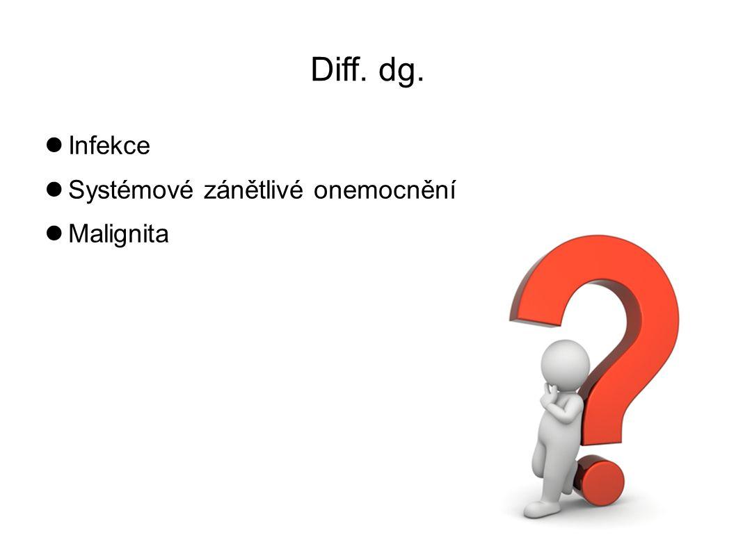 Diff. dg. Infekce Systémové zánětlivé onemocnění Malignita