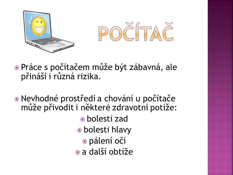Zásady práce u počítače