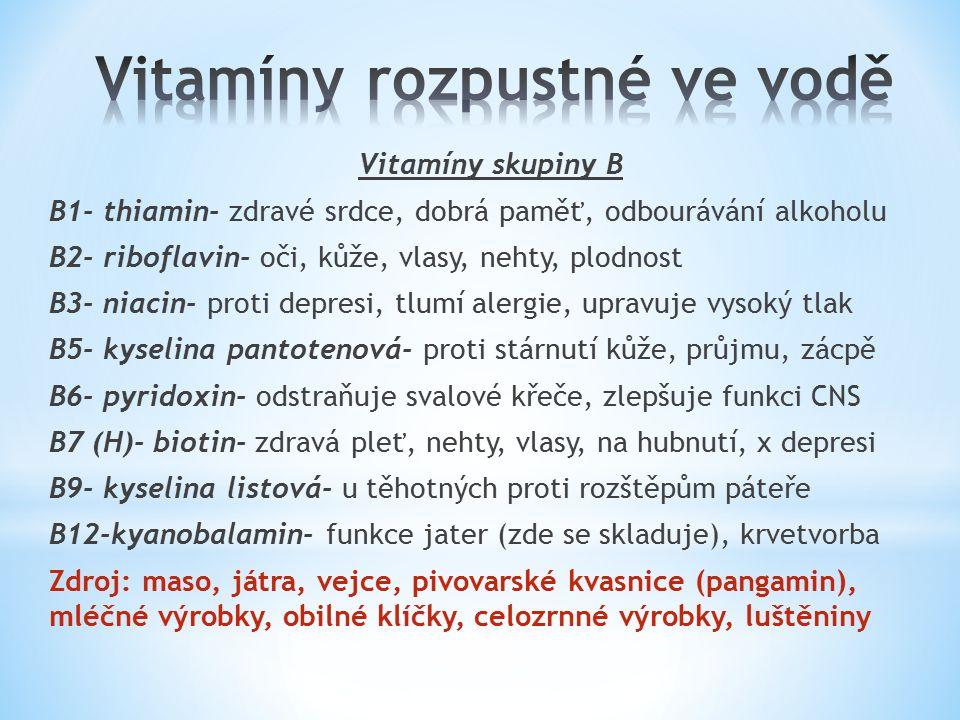 Vitamín C (kyselina ascorbová) Velice důležitý- denní dávka 80 mg Je esenciální- tělo si ho neumí vyrobit Funkce: o silný antioxidant (antioxidant je látka, jejíž molekuly omezují aktivitu kyslíkových radikálů, které poškozují svou aktivitou buňky.