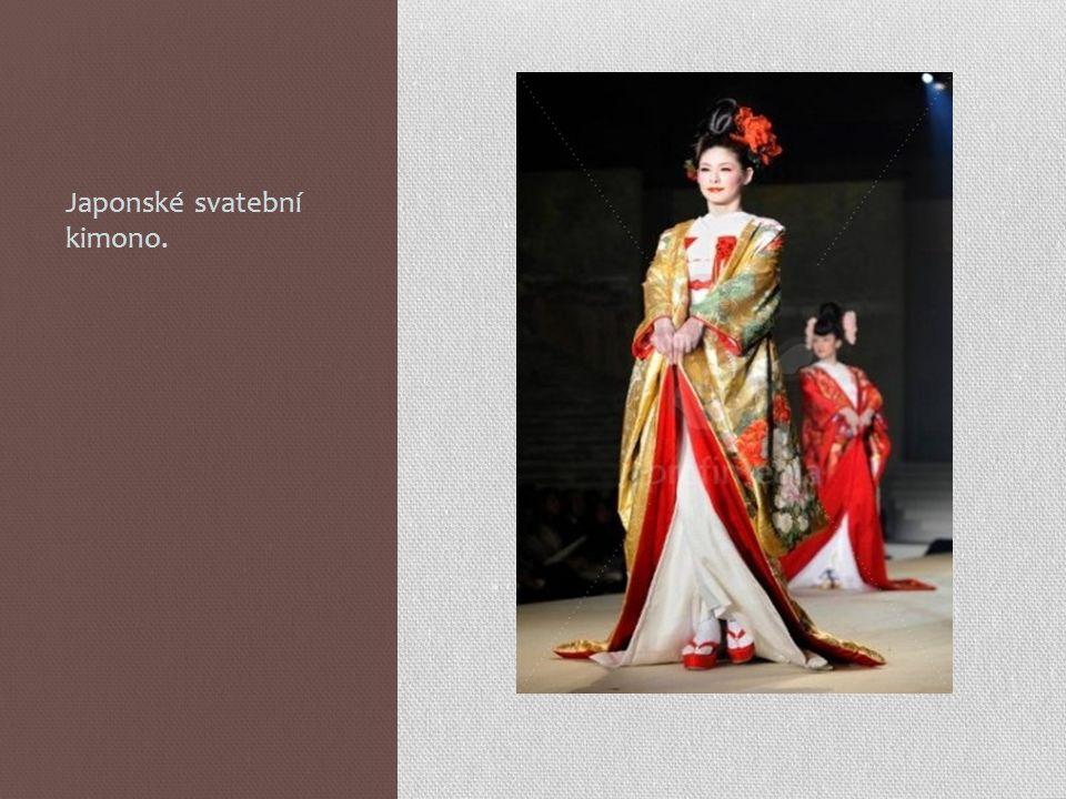 Japonské svatební kimono.