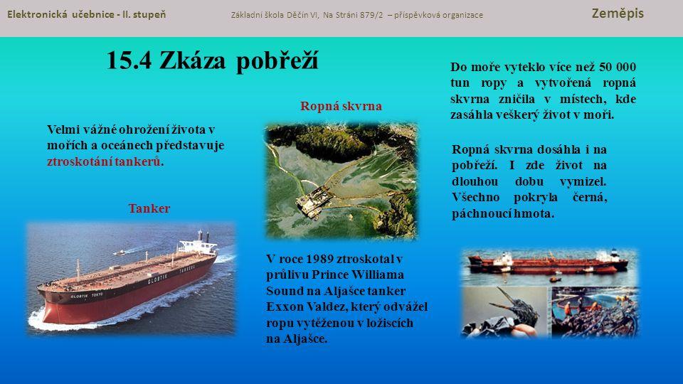 15.4 Zkáza pobřeží Elektronická učebnice - II.