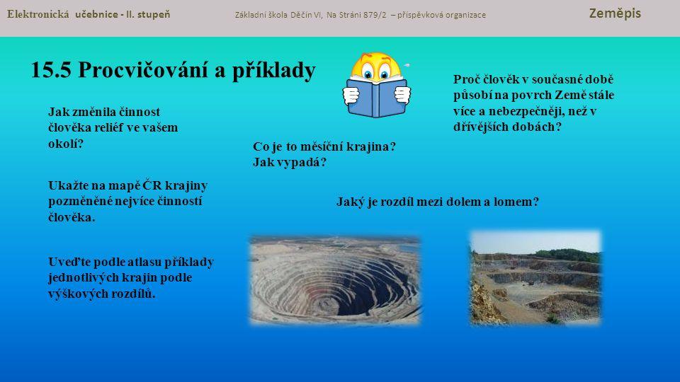 15.5 Procvičování a příklady Elektronická učebnice - II.