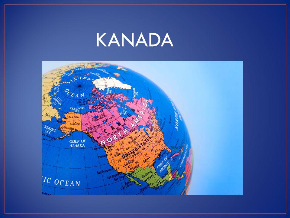 KANADA (označována jako Země javorového listu) ROZLOHA: 10 mil km 2 - 2.