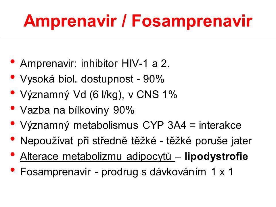 Amprenavir / Fosamprenavir Amprenavir: inhibitor HIV-1 a 2.