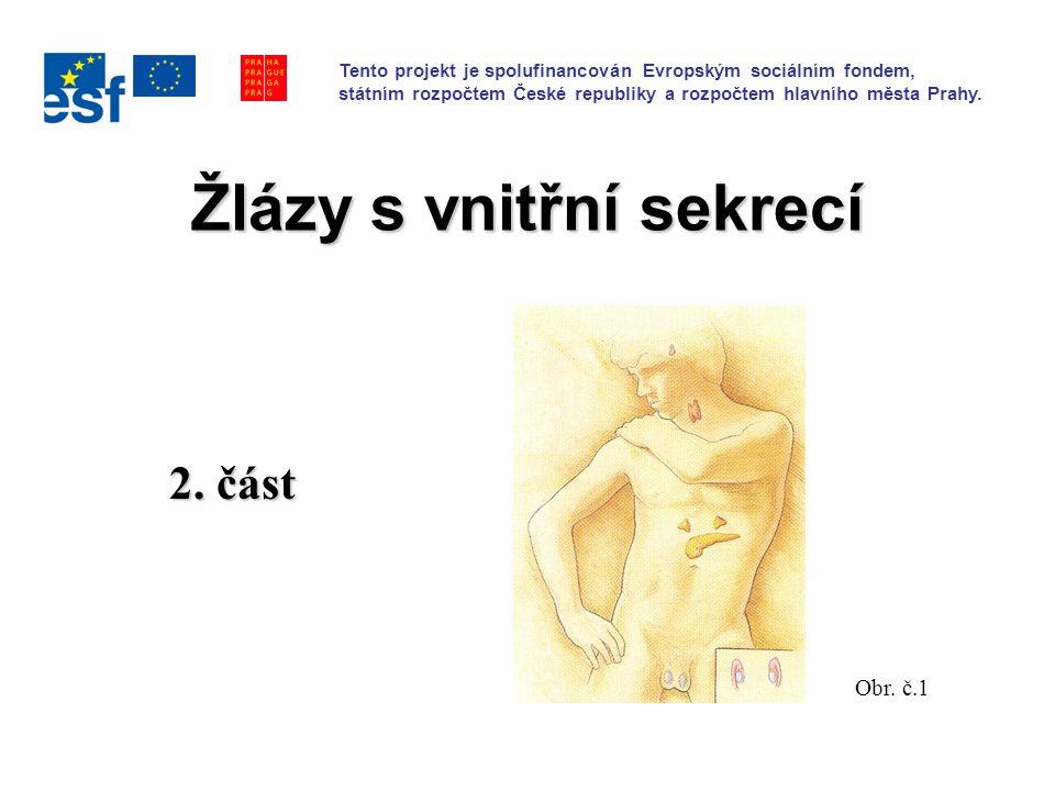 Žlázy s vnitřní sekrecí 2. část Obr.