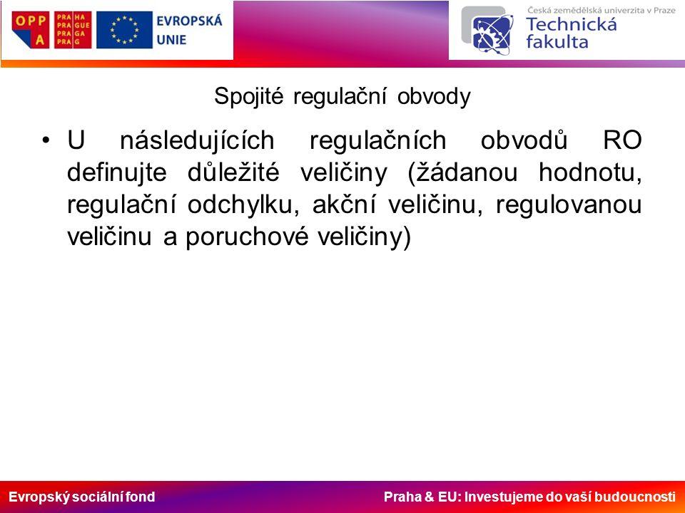 Evropský sociální fond Praha & EU: Investujeme do vaší budoucnosti Spojité regulační obvody U následujících regulačních obvodů RO definujte důležité v