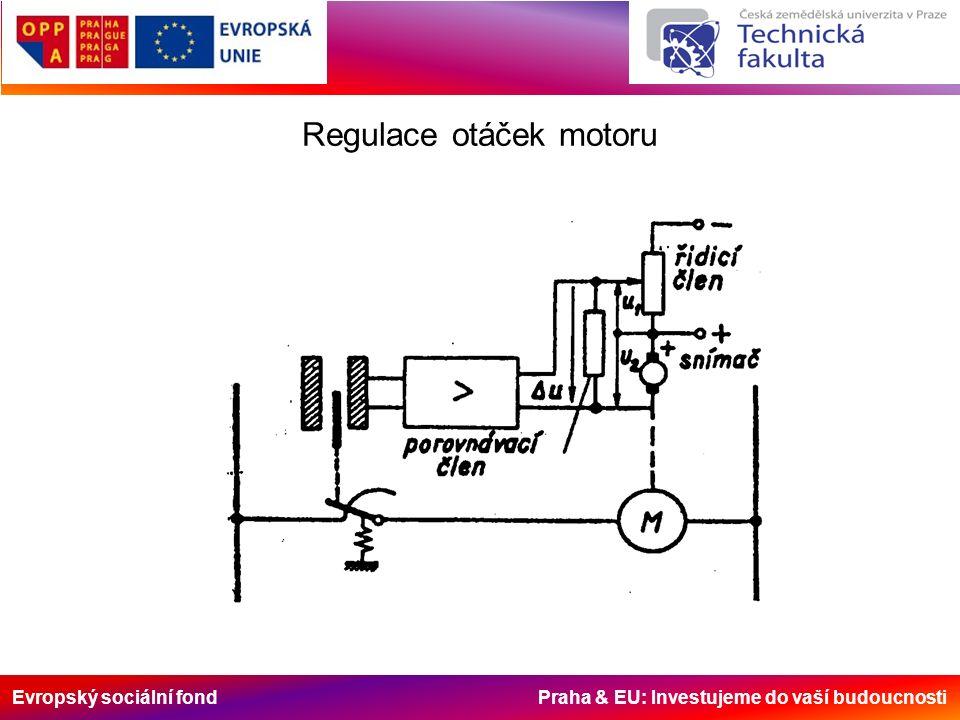 Evropský sociální fond Praha & EU: Investujeme do vaší budoucnosti Regulace otáček motoru