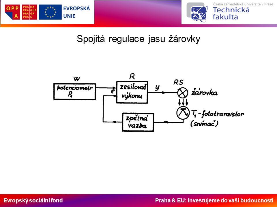 Evropský sociální fond Praha & EU: Investujeme do vaší budoucnosti Spojitá regulace jasu žárovky